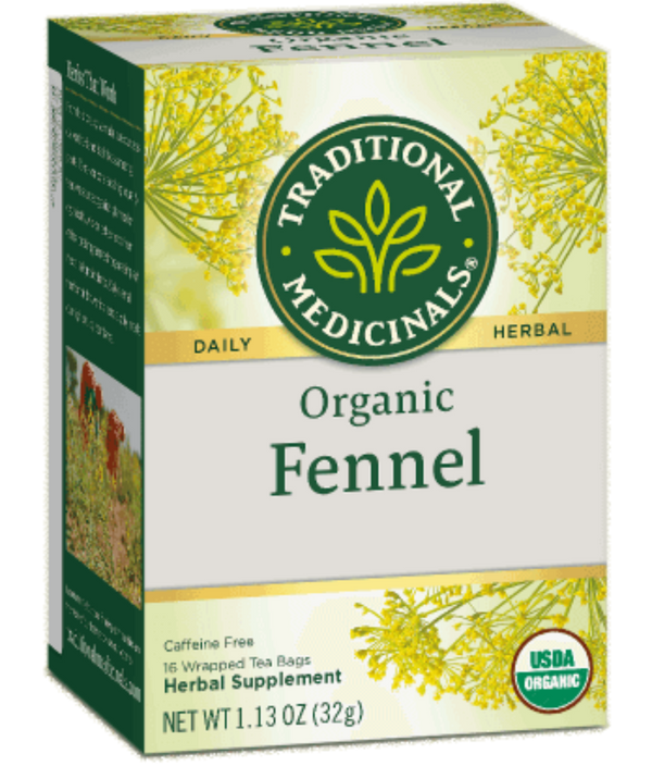 Traditional Medicinals Fennel 16ct-Teas-The Scarlet Sage Herb Co.