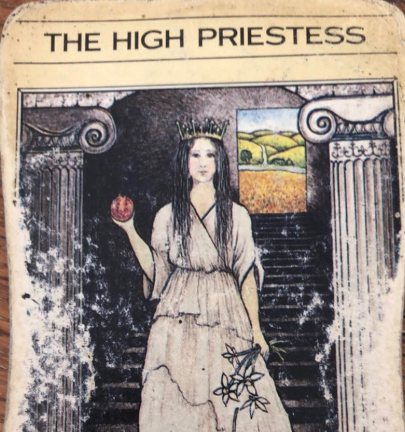 Online Class: Explore 'The High Priestess' from tarot's Major Arcana deck with Tara Beckerley - June 17th, 6-7:30pm - The Scarlet Sage Herb Co.