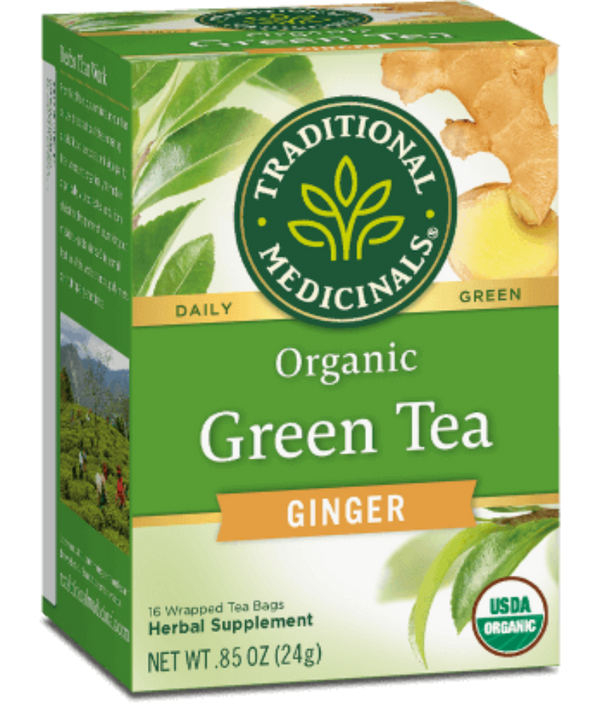 Traditional Medicinals Green Tea Ginger 16ct-Teas-The Scarlet Sage Herb Co.