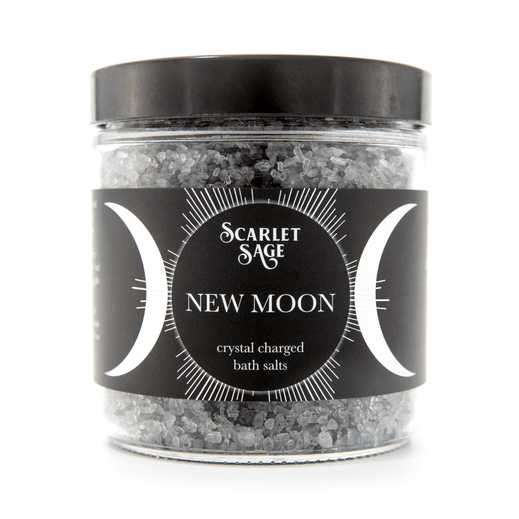 New Moon Activated Bath Salts - The Scarlet Sage Herb Co.