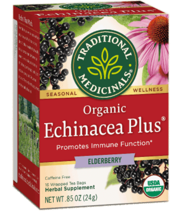 Traditional Medicinals Echinacea Elderberry 16ct-Teas-The Scarlet Sage Herb Co.