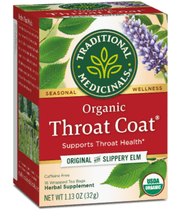 Traditional Medicinals Throat Coat 16ct-Teas-The Scarlet Sage Herb Co.