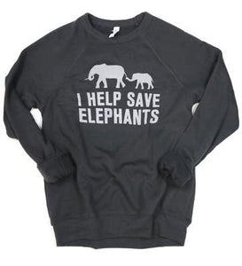 I Help Save Elephants Adult Unisex Sweater
