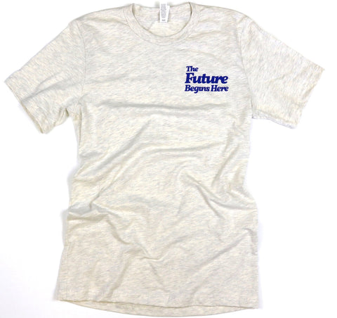 The Future Begins Here Adult Unisex Pocket Tee