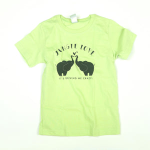 Jungle Love Youth Lime Green Tee