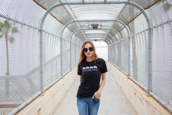 Poacher's Suck Women's Black Tee
