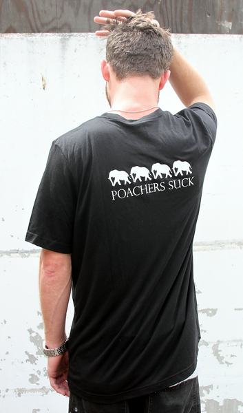 Poacher's Suck Men's Black Tee