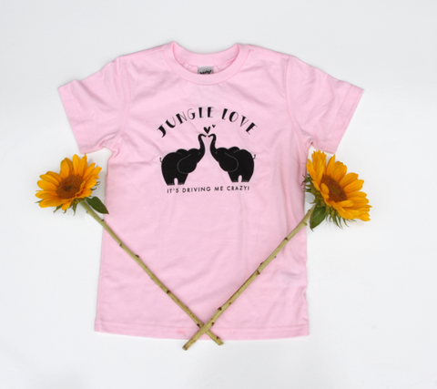 Jungle Love Youth Bubblegum Pink Tee