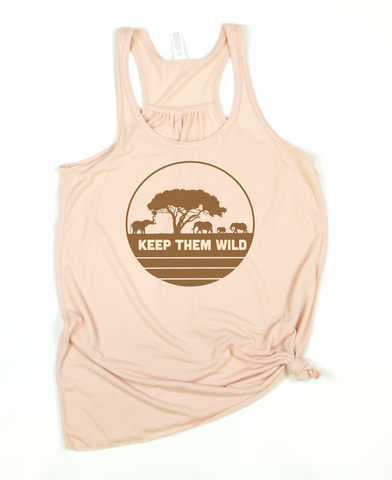 Keep Them Wild Adult Women's Tank