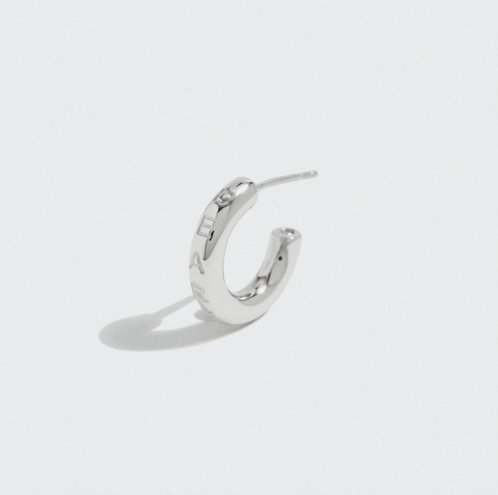 SILVER DEAREST HOOPS