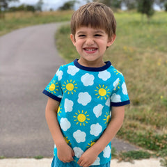 Frugi Organic Crawl Away Tights - Multi Star/Dragon, Tights, Frugi, Baby goes Retro - Baby goes Retro