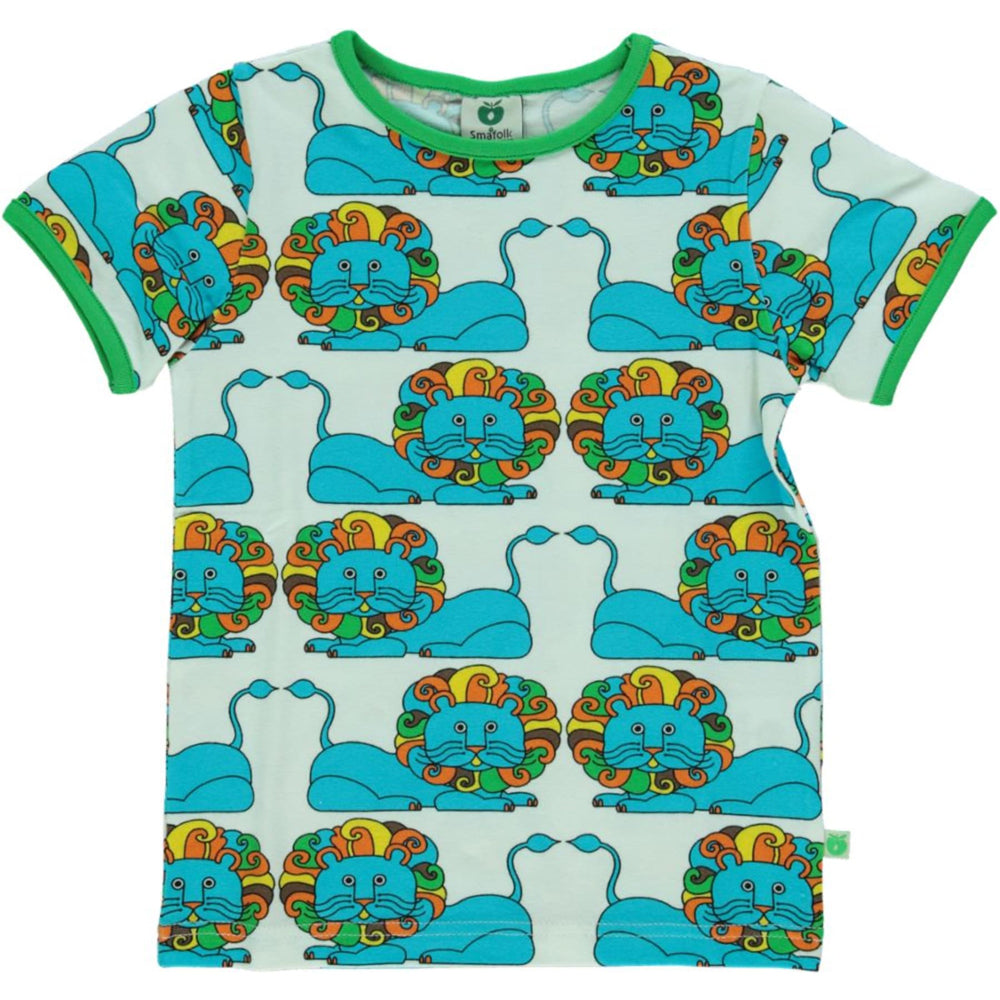 Piccalilly Organic All Over Print T-Shirt - Dinosaur
