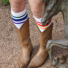 "22"" Knee High Rainbow Striped Tube Socks - 3, socks, Pride Socks, Baby goes Retro - Baby goes Retro"
