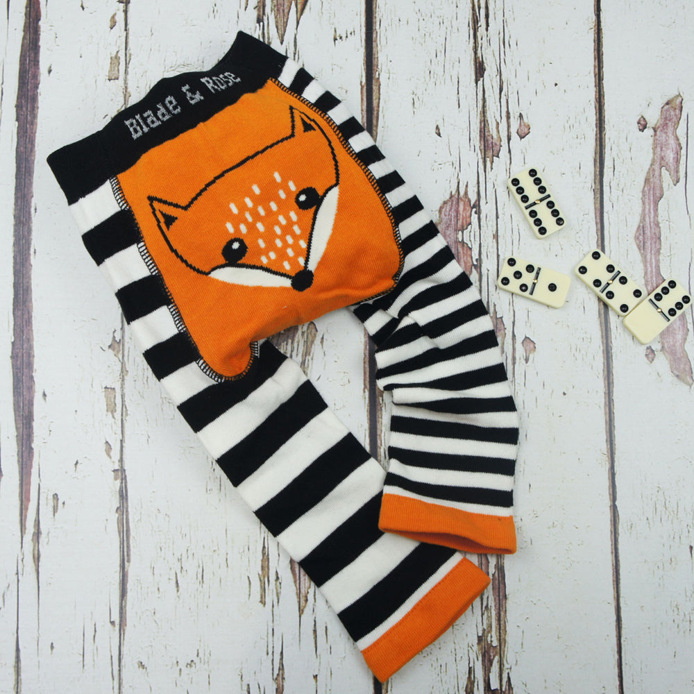Blade & Rose Footless Tights - Fox, Tights, Blade & Rose, Baby goes Retro - Baby goes Retro
