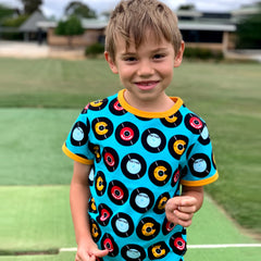 Frugi Organic Neptune Cord Dungarees - Tin Roof Lost Words