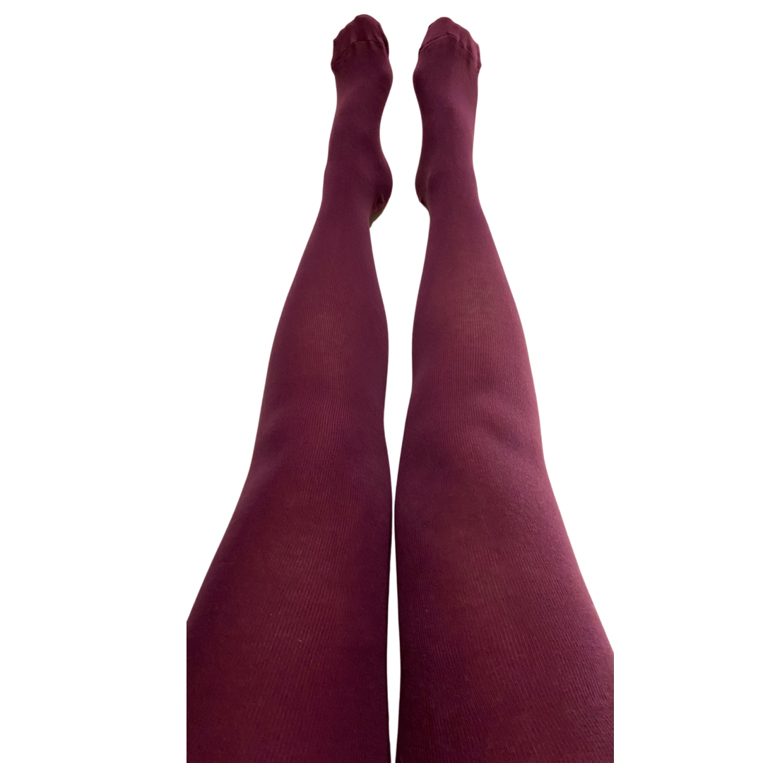 Slugs & Snails Organic Block Colour Adult Tights - Purple