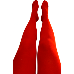 Slugs & Snails Organic Block Colour Adult Tights - Red
