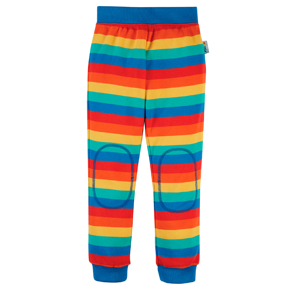 Frugi Organic Favourite Cuffed Legging - Rainbow Stripe