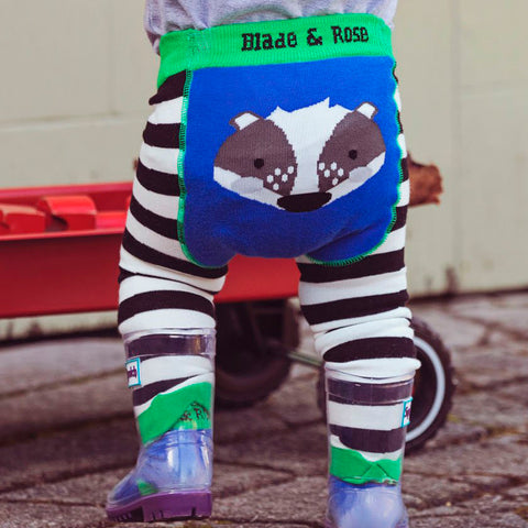 Blade & Rose Footless Tights - Pip the Badger
