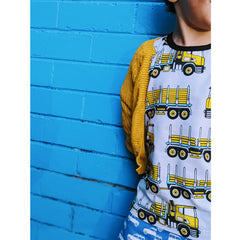 Frugi Organic Spring Skater Dress - Rainbow Skies