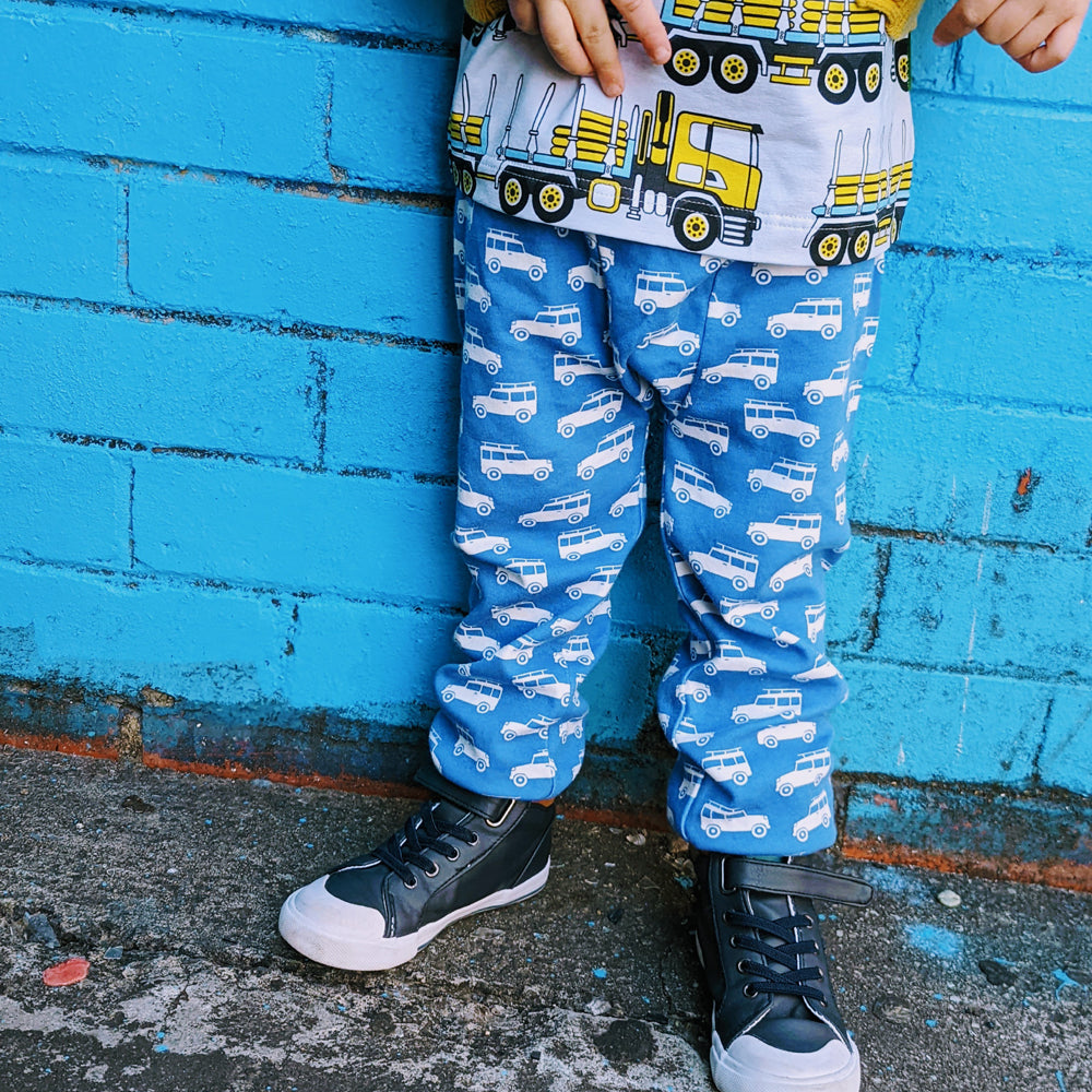 Frugi Organic Magic Number T-Shirt - Tango Red/Duck No 2