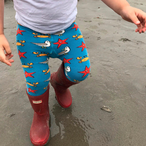PRE-ORDER Slugs & Snails Organic Children's Tights - Seaside