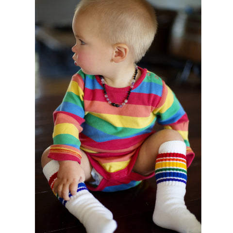 "10"" Baby/toddler Rainbow Striped Tubes - 1  by Pride Socks"
