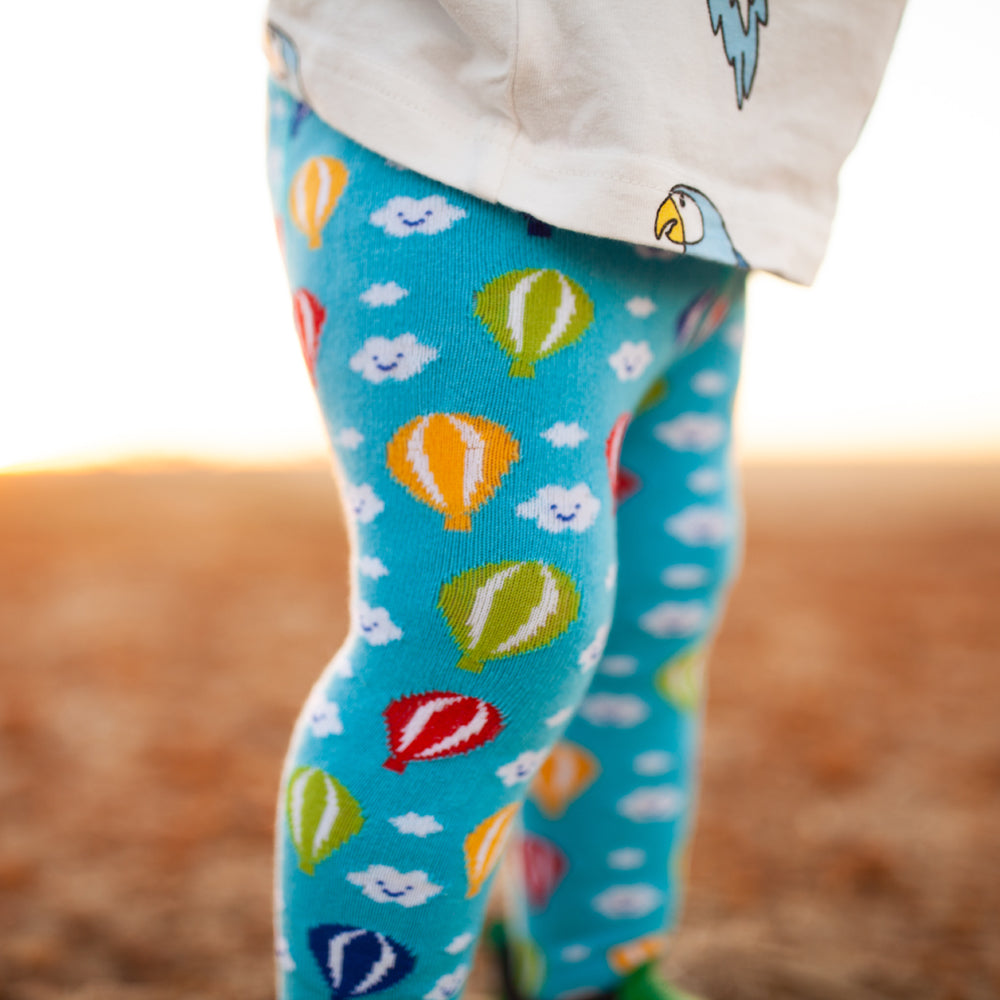 243a18e2f8370b Slugs & Snails Organic Children's Tights - Hot Air Balloon – Baby goes Retro