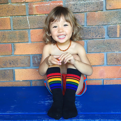 Pride socks 10 inch tube socks - black