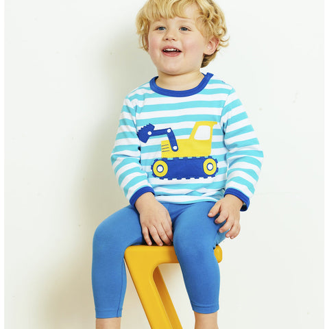 Toby Tiger Organic Basic Leggings - Blue, Leggings, Toby Tiger, Baby goes Retro - Baby goes Retro