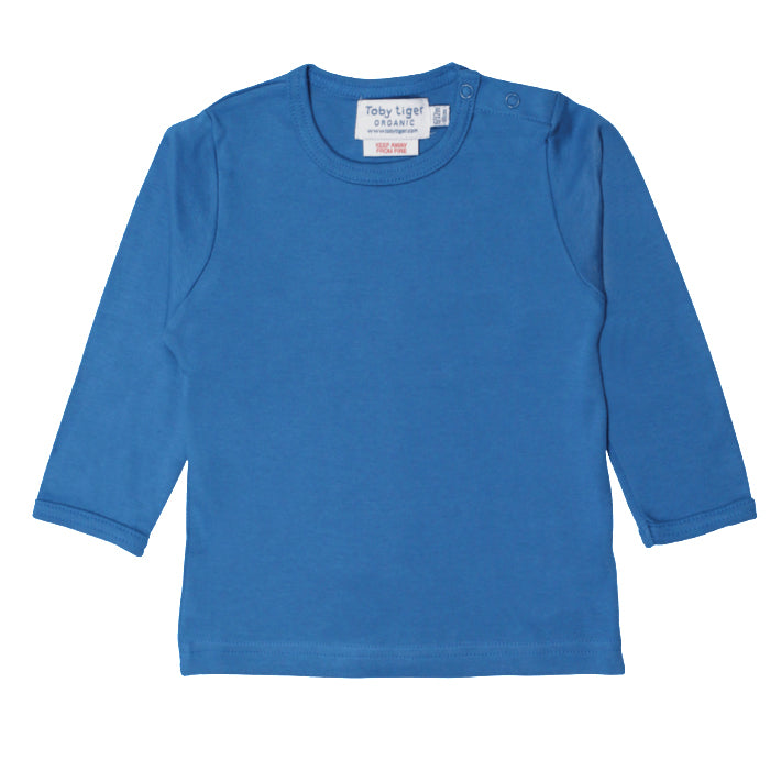 Toby Tiger Organic Basic l/s Tee - Blue, Tee, Toby Tiger, Baby goes Retro - Baby goes Retro