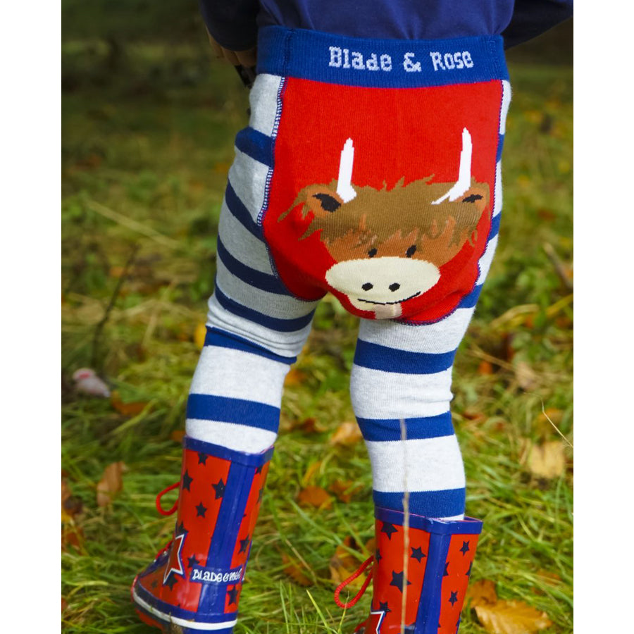 Blade & Rose Footless Tights - Highland Cow