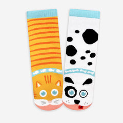 Pals Socks - Cat & Dog - Kids collectible mismatched socks, Socks, Pals Socks, Baby goes Retro - Baby goes Retro