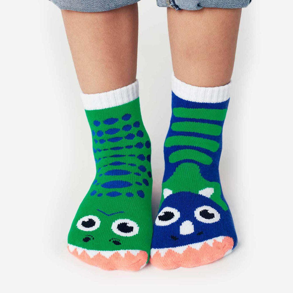 Pals Socks - T-Rex & Triceratops - Kids collectible mismatched socks, Socks, Pals Socks, Baby goes Retro - Baby goes Retro