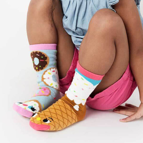 Pals Socks - Donut & Ice Cream - Kids collectible mismatched socks