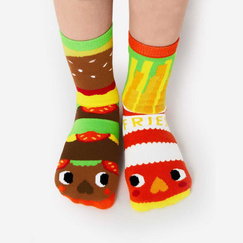 Pals Socks - Burger & Fries - Kids collectible mismatched socks, Socks, Pals Socks, Baby goes Retro - Baby goes Retro
