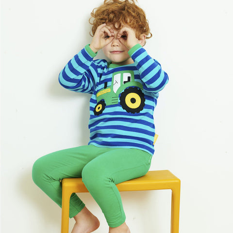 Toby Tiger Organic Basic Leggings - Green, Leggings, Toby Tiger, Baby goes Retro - Baby goes Retro