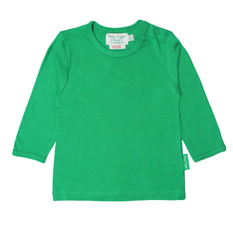 Toby Tiger Organic Basic l/s Tee - Green, Tee, Toby Tiger, Baby goes Retro - Baby goes Retro