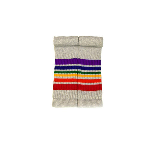 Pride socks 22 inch rainbow tube socks - grey
