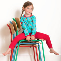 Toby Tiger Organic Basic Leggings - Red, Leggings, Toby Tiger, Baby goes Retro - Baby goes Retro