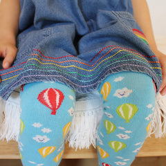 Slugs & Snails Organic Children's Tights - Hot Air Balloon