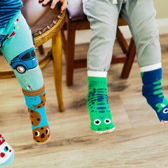 Pals Socks - T-Rex & Triceratops - Kids collectible mismatched socks