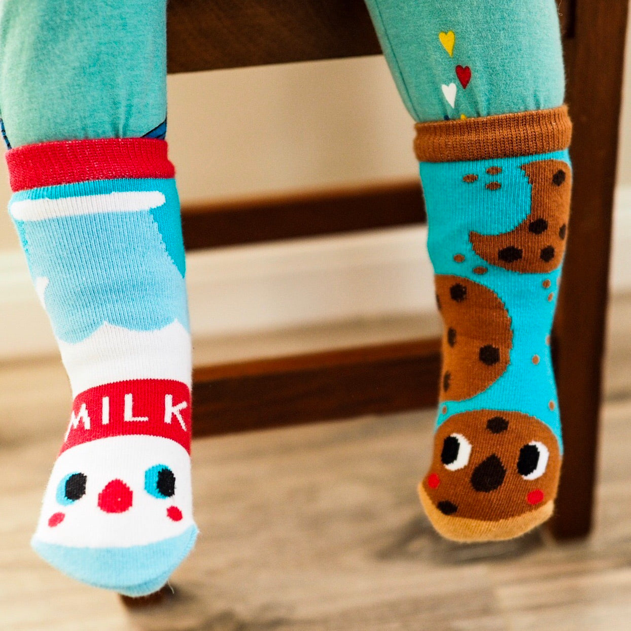 Pals Socks - Milk & Cookies - Kids collectible mismatched socks, Socks, Pals Socks, Baby goes Retro - Baby goes Retro