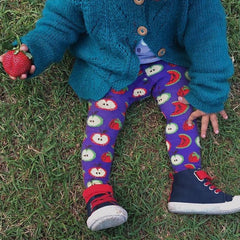 Slugs & Snails Organic Children's Tights - Juicy, Tights, Slugs & Snails, Baby goes Retro - Baby goes Retro