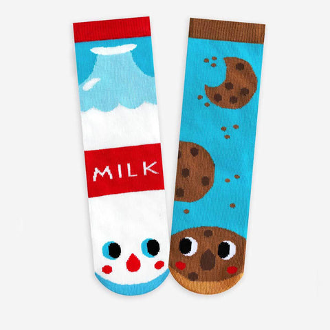 Pals Socks - Milk & Cookies - Kids collectible mismatched socks