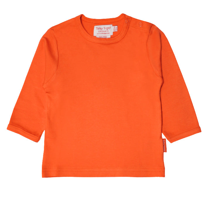 Toby Tiger Organic Basic l/s Tee - Orange, Tee, Toby Tiger, Baby goes Retro - Baby goes Retro