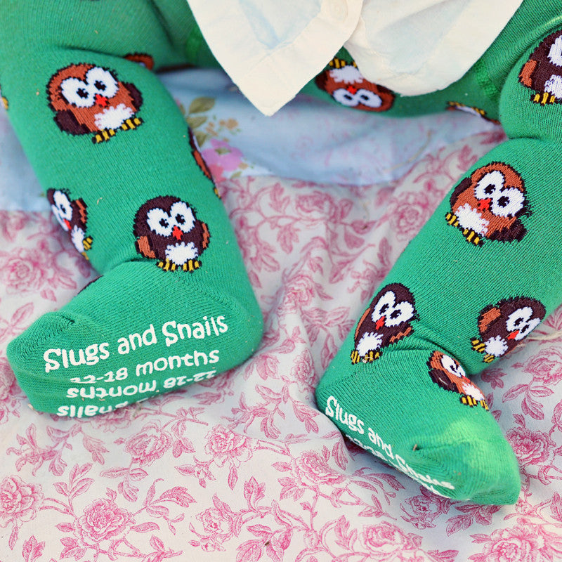 Slugs & Snails Organic Children's Tights - Hoot, Tights, Slugs & Snails, Baby goes Retro - Baby goes Retro