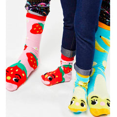 Pals Adult Mismatched Socks  - Strawberry & Banana