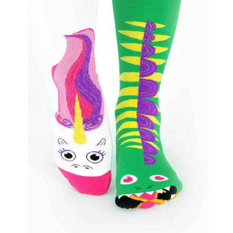 PRE-ORDER Pals Adult Mismatched Socks  - Dragon & Unicorn, Socks, Pals Socks, Baby goes Retro - Baby goes Retro
