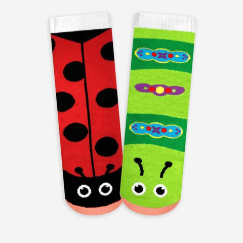 Pals Socks - Ladybug & Caterpillar - Kids collectible mismatched socks, Socks, Pals Socks, Baby goes Retro - Baby goes Retro